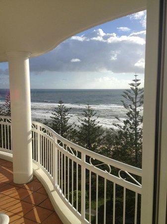 Burleigh Mediterranean Resort: View from our 2 bedroom apartment :)