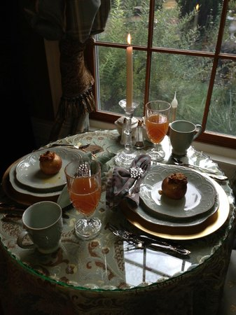 Juniper Hill Bed & Breakfast: First of three course breakfast