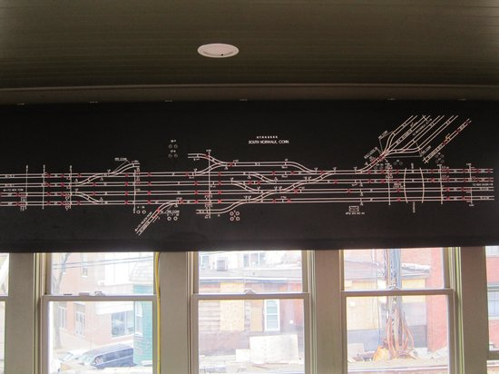 SoNo Switch Tower Museum: Track diagram model board