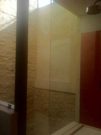 Corral del Rey : Vitrage de l'espace douche !