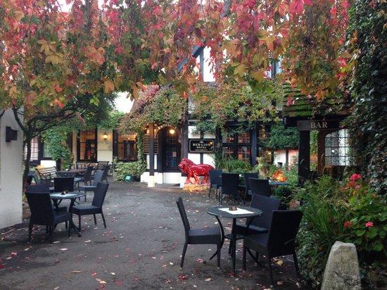 The Vine Restaurant: Courtyard day