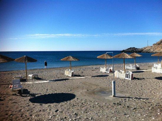 Hotel Kamari Beach: ...........früh am Morgen