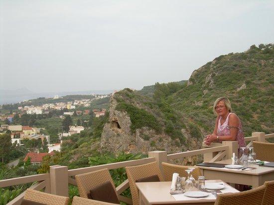 Astrea Cafe Restaurant: Udsigten fra restauranten