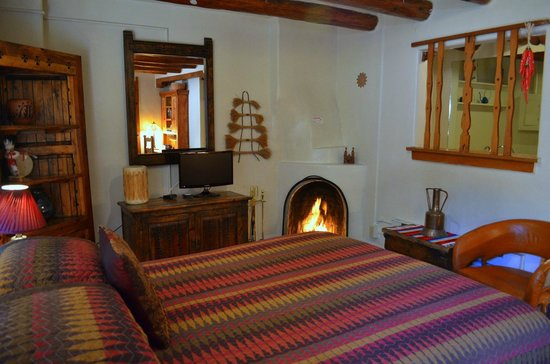 Pueblo Bonito Bed and Breakfast Inn: Santa Clara room provides traditional historic New Mexico enchantment for Santa Fe travelers!