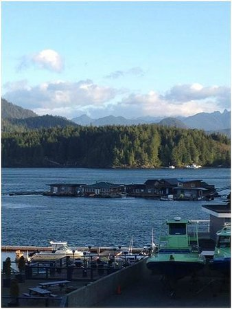 Marina West Motel: view of harbour (zoomed) from room 80