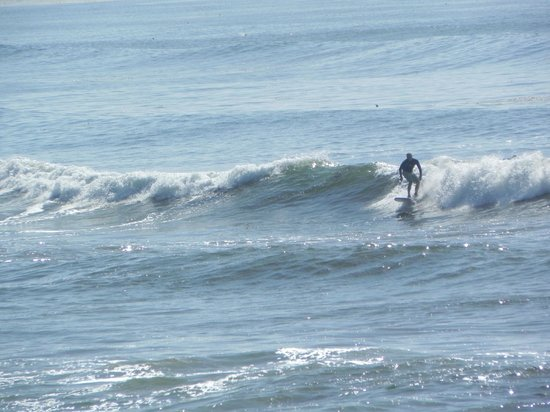 Sunset Cliffs Natural Park: Solo surfer riding the waves