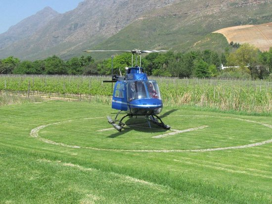 Lanzerac Hotel & Spa: Helicopter landing