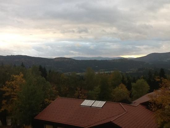 Wellnesshotel Riedlberg: zicht vanop het terras (kamer 301)