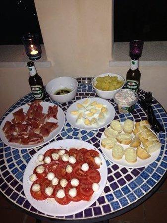 Finca Son Jorbo: Our last evenings spread
