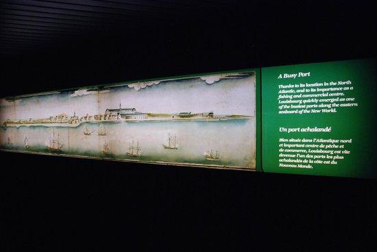 Le site historique national de la Forteresse de Louisbourg : Museum display