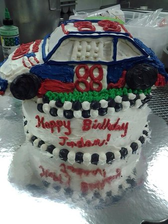 Cathy's Place: Race car birthday cake