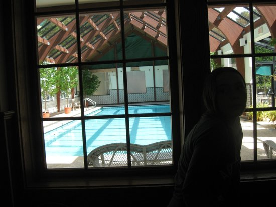 Beaverkill Valley Inn : The indoor pool viewed from the free ice cream bar