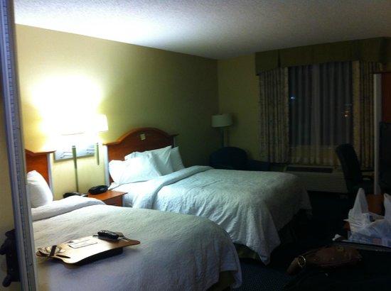 Hampton Inn Ft. Lauderdale /Downtown Las Olas Area : Apartamento com 02 camas queen size, microondas, frigobar, máquina de café, cofre, tabua e ferro