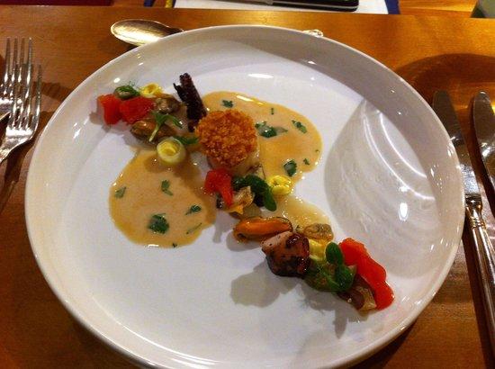 Restaurant & Hotel Zum Lowen: Jakobsmuschel mit kalter bouillabaisse
