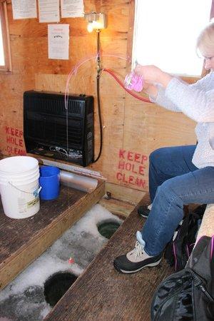 Wigwam Resort: heated fish houses