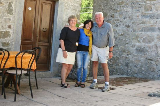 Agriturismo I Cerretelli: Saying our good-byes to Gioconda