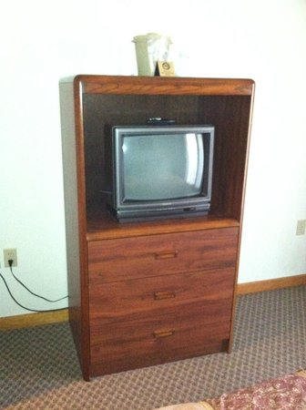 Grey Fox Inn & Resort : TV/Bureau in our room