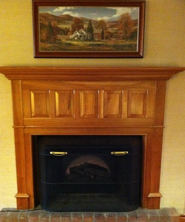Grey Fox Inn & Resort: Electric fireplace in lobby