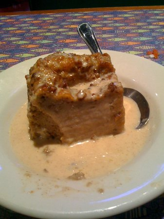 Fish City Grill: Warm bread and butter pudding with whisky cream sauce, yummmmy!