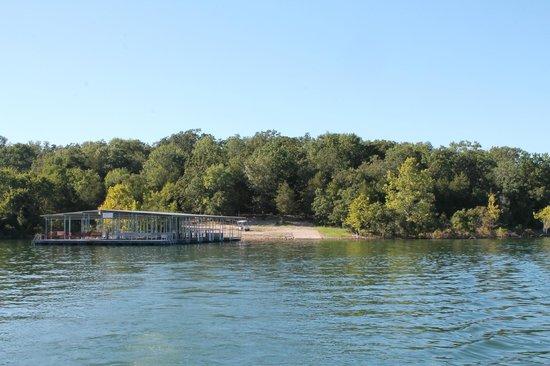 Andersen's Valley View Resort: view from pontoon looking at dock