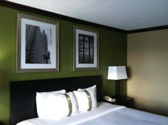Holiday Inn Chicago Oakbrook: pics on wall above bed