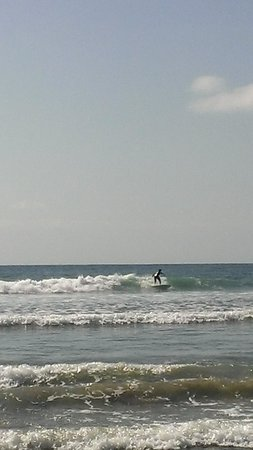 Dana Point, CA: James on his new surf board!
