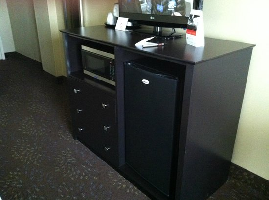 Holiday Inn Chicago Oakbrook : Mini Fridge with micro and drawers