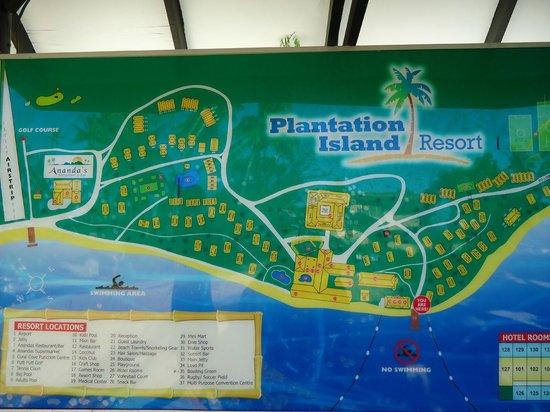 Map of Resort - Picture of Plantation Island Resort ...