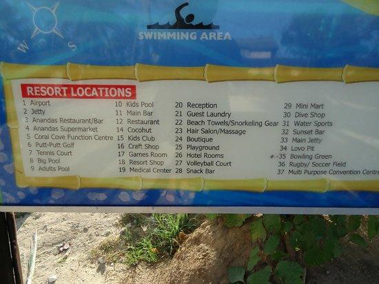Plantation Island Resort: Map