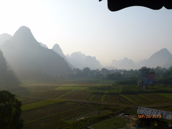 Yangshuo Tea Cozy : View from our window