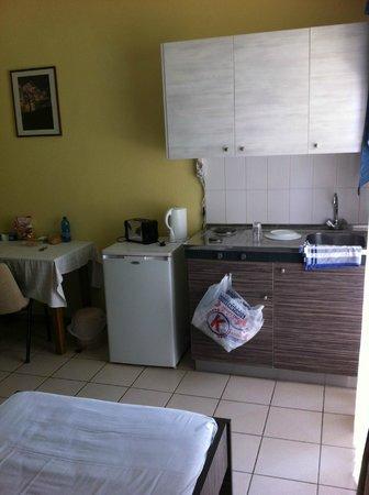 Sunny Days: Fridge, cooker, sink