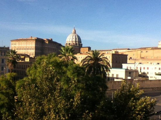 Vatican Vista: View of the Vatican from our room