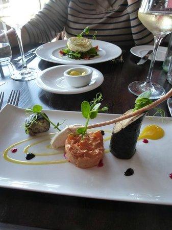 Charter 1227 Restaurant: Starters: mackerel and goat's cheese