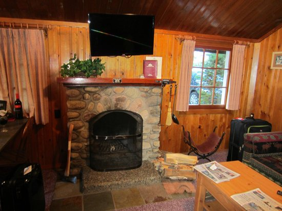 Alpine Village Cabin Resort - Jasper: Loved the fireplace!