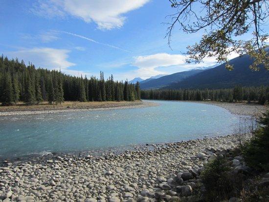 Alpine Village Cabin Resort - Jasper: Beautiful river!