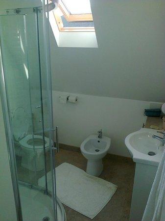 Nurses Cottage Bed & Breakfast: Castle view bathroom