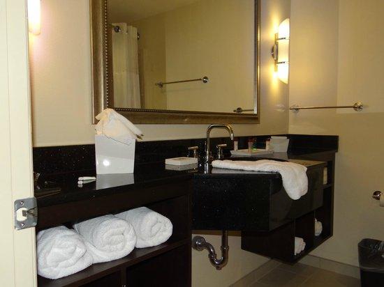 Ramada Plaza Resort and Suites Orlando International Drive : Banheiro grande