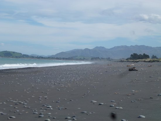 The Factory: The beach looking south to Kaikoura township