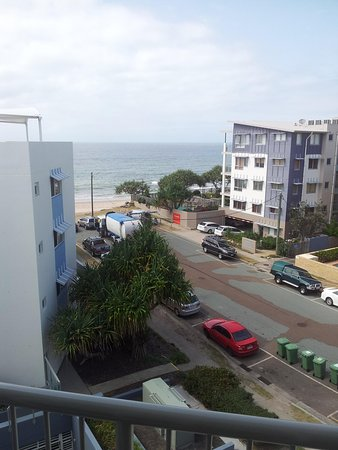 Rolling Surf Resort: View of beach from apartment