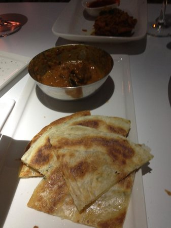 Malabar Restaurant: lamb masala with roti