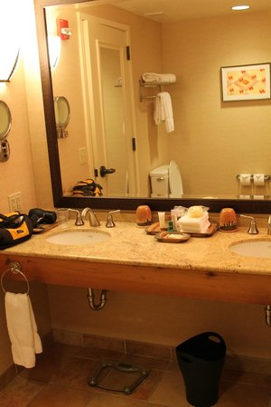 Sheraton Grand at Wild Horse Pass: vanity in Bathroom