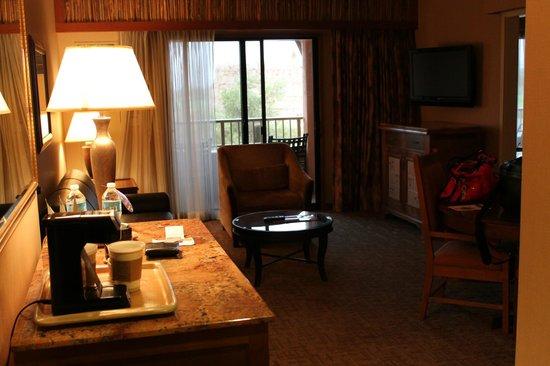 Sheraton Grand at Wild Horse Pass: from doorway towards balcony