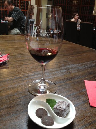 Williamson Wines Tasting Room: One of our wine/food pairings