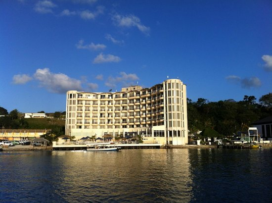 Grand Hotel And Casino: view of hotel from sunset cruise