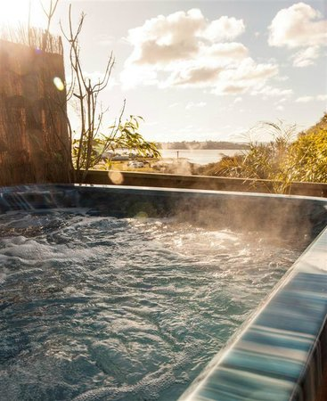 Diana's Place Lake View Accommodation: Hot spa pool available (excludes Private Studio)