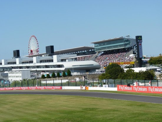 The main Suzuka Circuit seating & paddock area