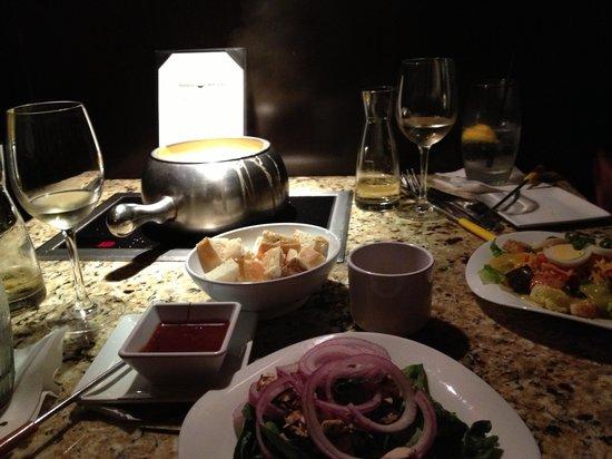 The Melting Pot: Cheese Fondue & Salad