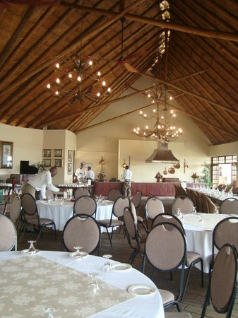 Ilala Lodge: The dining room being prepared for a function