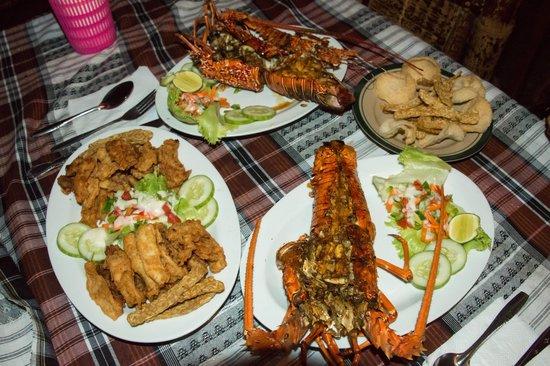 Kuta Bay Homestay : Lobster