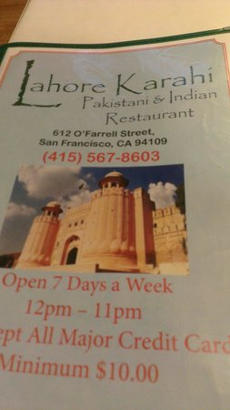 Photo of Indian Restaurant Lahore Karahi Pakistani Indian Cuisine at 612 O'farrell St, San Francisco, CA 94109, United States